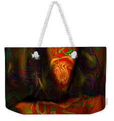 Weekender Tote Bag featuring the painting Tarot Candle by Kevin Caudill