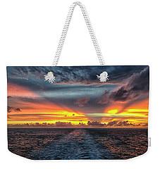 Tasman Sea Sunset Weekender Tote Bag