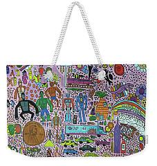 Weekender Tote Bag featuring the painting Taste The Rainbow by Artists With Autism Inc