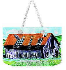 Tattered Prairie Barn Weekender Tote Bag