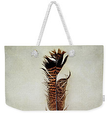 Tattered Turkey Feather Weekender Tote Bag
