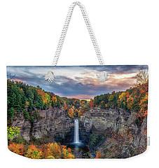 Taughannock Autumn Dusk Weekender Tote Bag