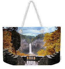 Taughannock In Autumn Weekender Tote Bag
