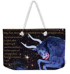 Taurus Birthday Zodiac Astrology Weekender Tote Bag