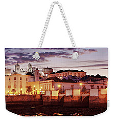Weekender Tote Bag featuring the photograph Tavira At Dusk - Portugal by Barry O Carroll