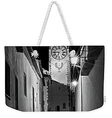 Weekender Tote Bag featuring the photograph Tavira Church Bell Tower At Night - Portugal by Barry O Carroll