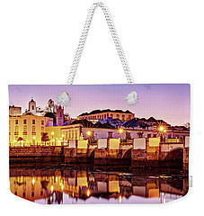 Weekender Tote Bag featuring the photograph Tavira Reflections - Portugal by Barry O Carroll
