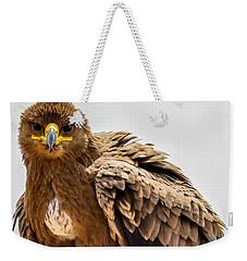Tawny Eagle Close Up Weekender Tote Bag