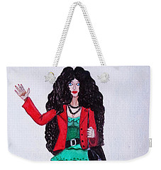 Fashionist Hailing A Taxi Weekender Tote Bag by Don Pedro De Gracia
