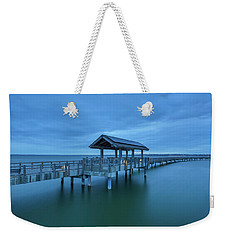 Taylor Dock Boardwalk At Blue Hour Weekender Tote Bag