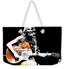 Taylor Swift 9s Weekender Tote Bag by Brian Reaves
