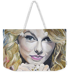 Taylor Swift Portrait Weekender Tote Bag by Zalika Ledeatte- Williams
