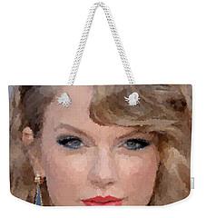 Taylor Swift Weekender Tote Bag by Samuel Majcen