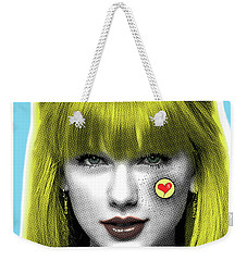 Taylor Swift, Pop Art, Portrait, Contemporary Art On Canvas, Famous Celebrities Weekender Tote Bag by Dr Eight Love