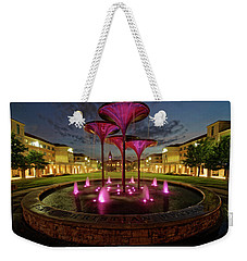 Weekender Tote Bag featuring the photograph Tcu Frog Fountain by Jonathan Davison