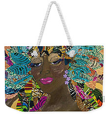 Weekender Tote Bag featuring the tapestry - textile Tdot Caribana by Apanaki Temitayo M