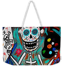 Te Amo Painter Dia De Los Muertos Weekender Tote Bag by Pristine Cartera Turkus