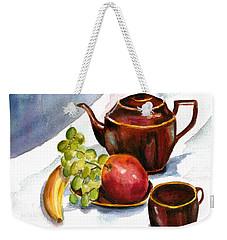 Tea And Fruit Weekender Tote Bag by Clara Sue Beym