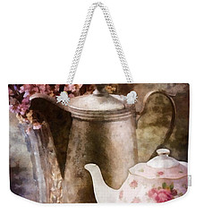 Tea And Grapes Weekender Tote Bag by Mo T