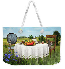 Weekender Tote Bag featuring the digital art Tea For Two by Jutta Maria Pusl