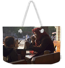 Weekender Tote Bag featuring the photograph Tea In Tashkent by Travel Pics