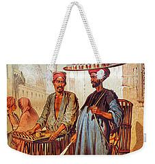 Weekender Tote Bag featuring the photograph Tea Seller by Munir Alawi