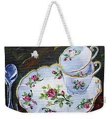 Tea Set Weekender Tote Bag
