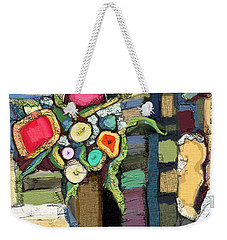 Weekender Tote Bag featuring the painting Tea Time by Carrie Joy Byrnes