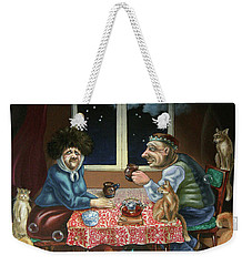 Tea With Cats Weekender Tote Bag