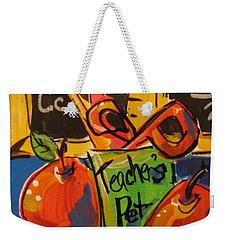 Teacher's Pet Weekender Tote Bag by Terri Einer