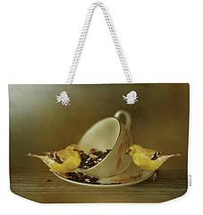 Teacup Goldfinch Feeder Weekender Tote Bag