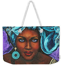 Teal Headwrap Weekender Tote Bag