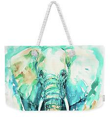 Teal N Turquoise Elephant Weekender Tote Bag