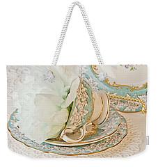 Teal Peony For Real  Weekender Tote Bag