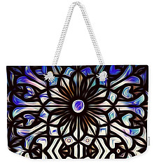 Teal Purple Vibe Weekender Tote Bag
