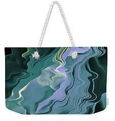 Teal Turbulence Weekender Tote Bag