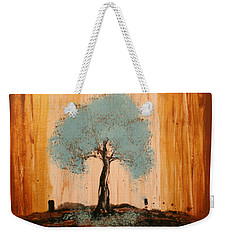 Teal Turquoise Tree Weekender Tote Bag