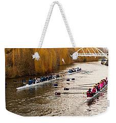 Teams Of Rowers On River Cam Weekender Tote Bag