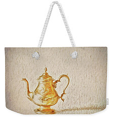 Weekender Tote Bag featuring the photograph Teapot  ... by Chuck Caramella