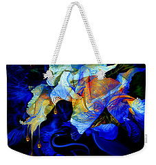 Weekender Tote Bag featuring the painting Tears In My Garden by Hanne Lore Koehler