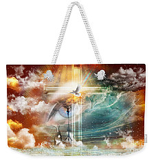 Weekender Tote Bag featuring the digital art Tears To Triumph by Dolores Develde
