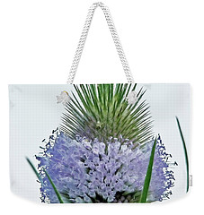 Teasel On White Weekender Tote Bag