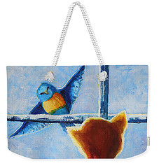 Teasing Bird Weekender Tote Bag