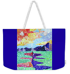 Weekender Tote Bag featuring the photograph Techni-color Rio Grande  by Brenda Pressnall