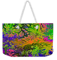 Technicolor Leaves Weekender Tote Bag