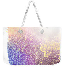 Weekender Tote Bag featuring the photograph Technicolor Sunflower by Christi Kraft