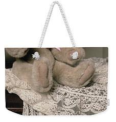 Teddy Bear And Ccat Weekender Tote Bag