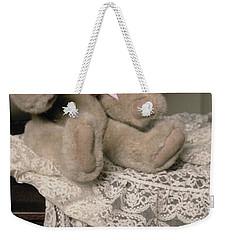 Teddy Bear And Ccat Weekender Tote Bag