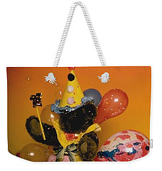 Teddy Bear Celebrates, Birthday Teddy Bear Weekender Tote Bag