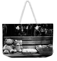 Teddy Bear Lovers On The Bench Weekender Tote Bag by Yoel Koskas